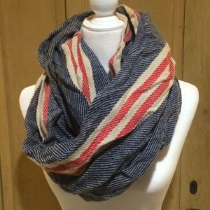 NWOT Red, White, and Blue Infinity Scarf